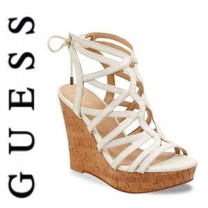 "NWT Guess ""Huyana"" Wedge Sandals 